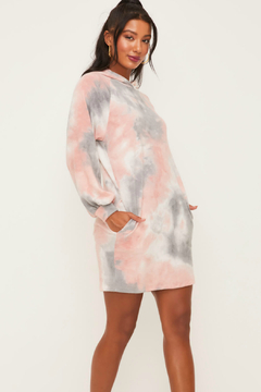 Lush  Sweater Dress W Hoodie - Product List Image