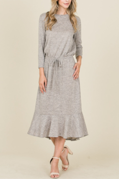 Reborn J Sweater Dress {WINE} - Product List Image