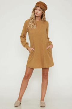 Peach Love Sweater Dress with Pockets - Product List Image