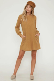 Peach Love Sweater Dress with Pockets - Product Mini Image