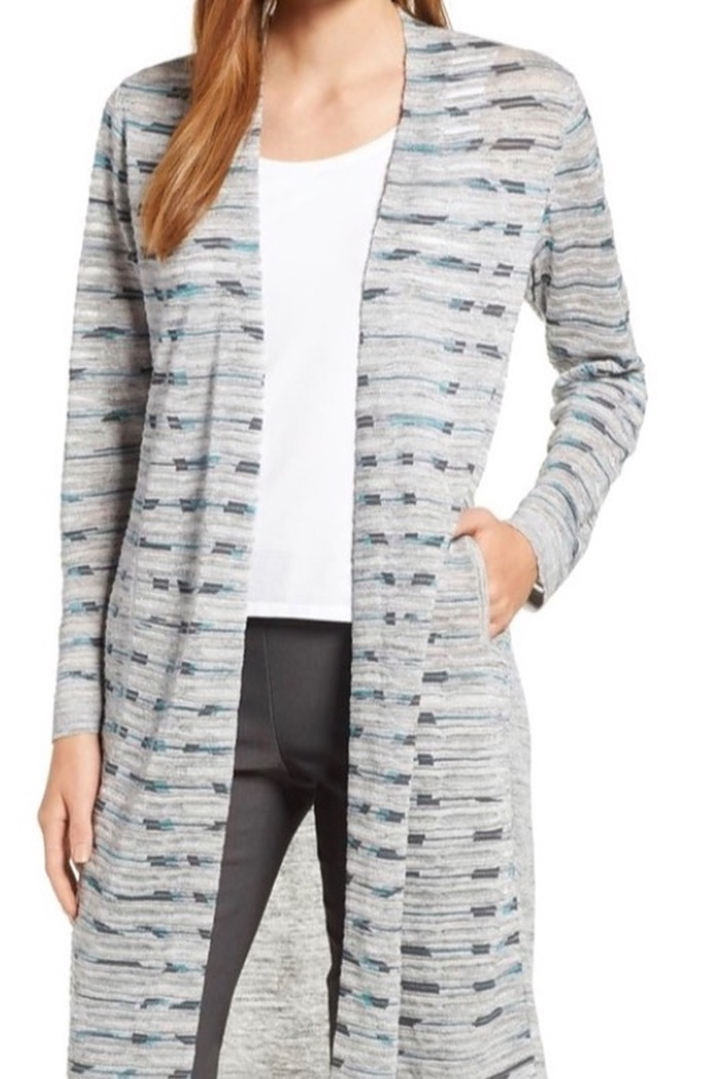Nic&zoe Sweater duster long sleeve - Front Cropped Image