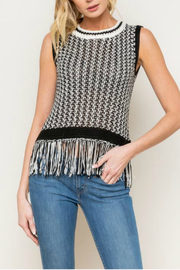 Mystree Sweater fringe tank - Product Mini Image