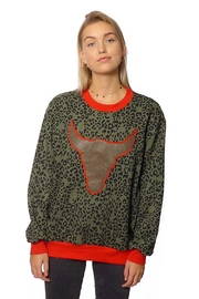 Gypsetters Sweater Green Leopard - Product Mini Image
