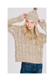 Main Strip Sweater Hat Set - Front cropped