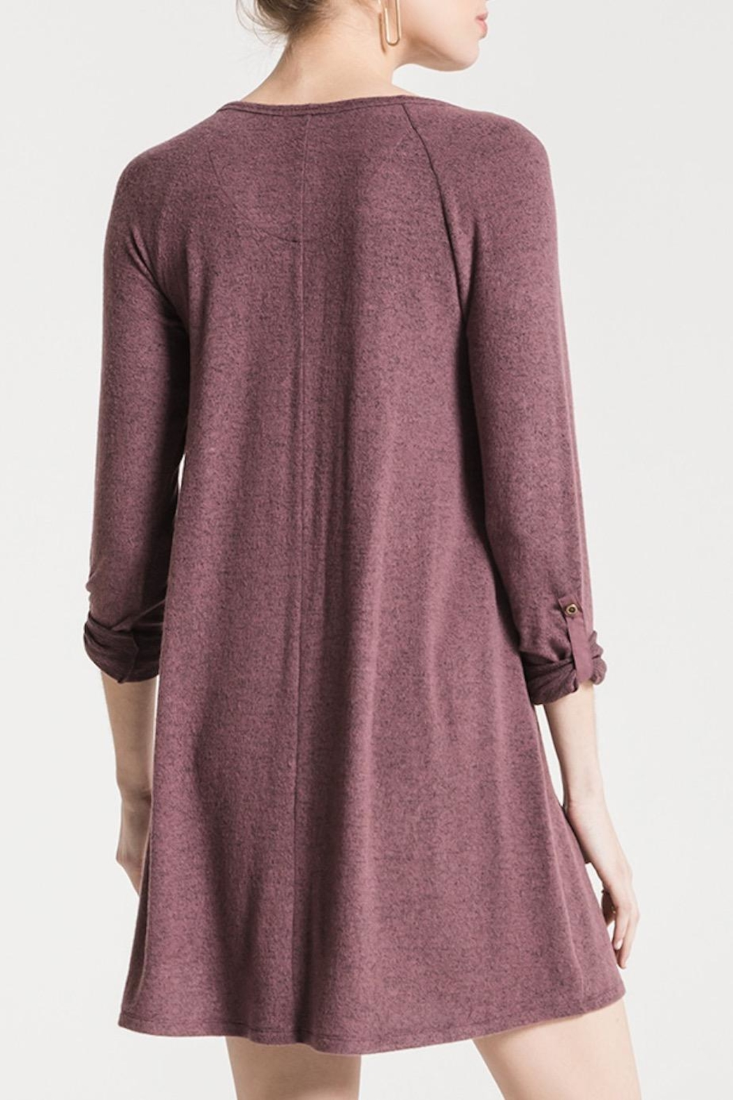 z supply Sweater Henley Dress - Front Full Image