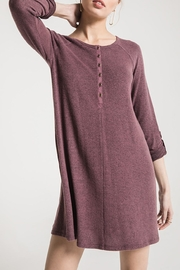 z supply Sweater Henley Dress - Front full body