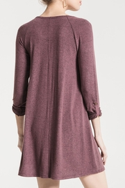 z supply Sweater Henley Dress - Back cropped