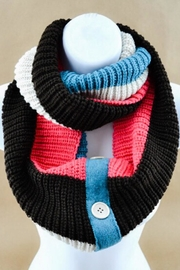 No Label  Sweater Infinity Scarf - Front cropped