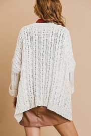 Umgee  Sweater Knit Cardigan - Front full body