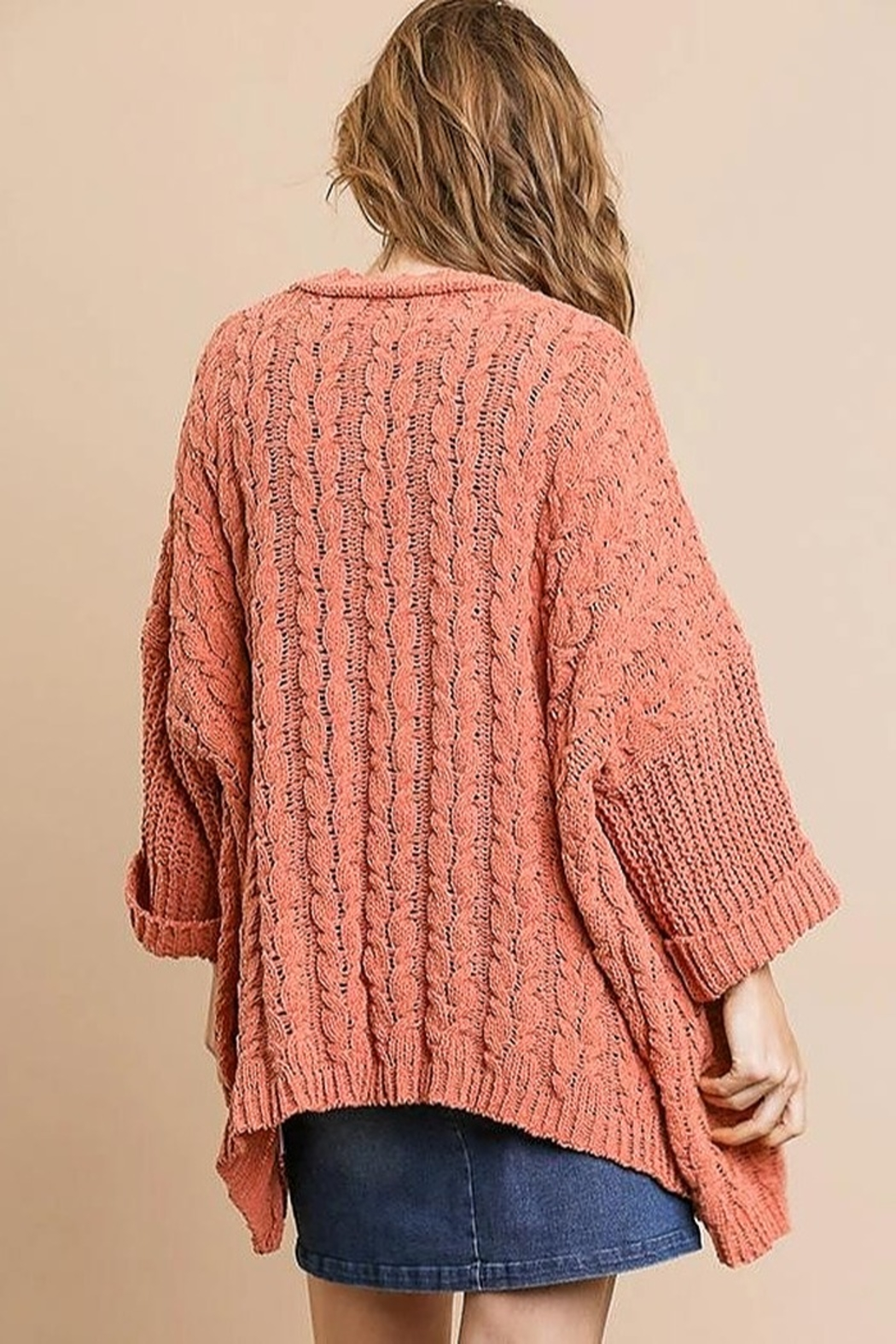 Umgee  Sweater Knit Cardigan - Front Full Image