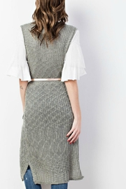 easel Sweater-Knit Maxi Vest - Side cropped