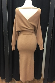 Selfie Leslie Sweater Midi Dress - Front full body