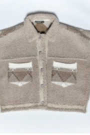 Blank NYC SWEATER/ SHERPA BUTTON FRONT JACKET - Product Mini Image
