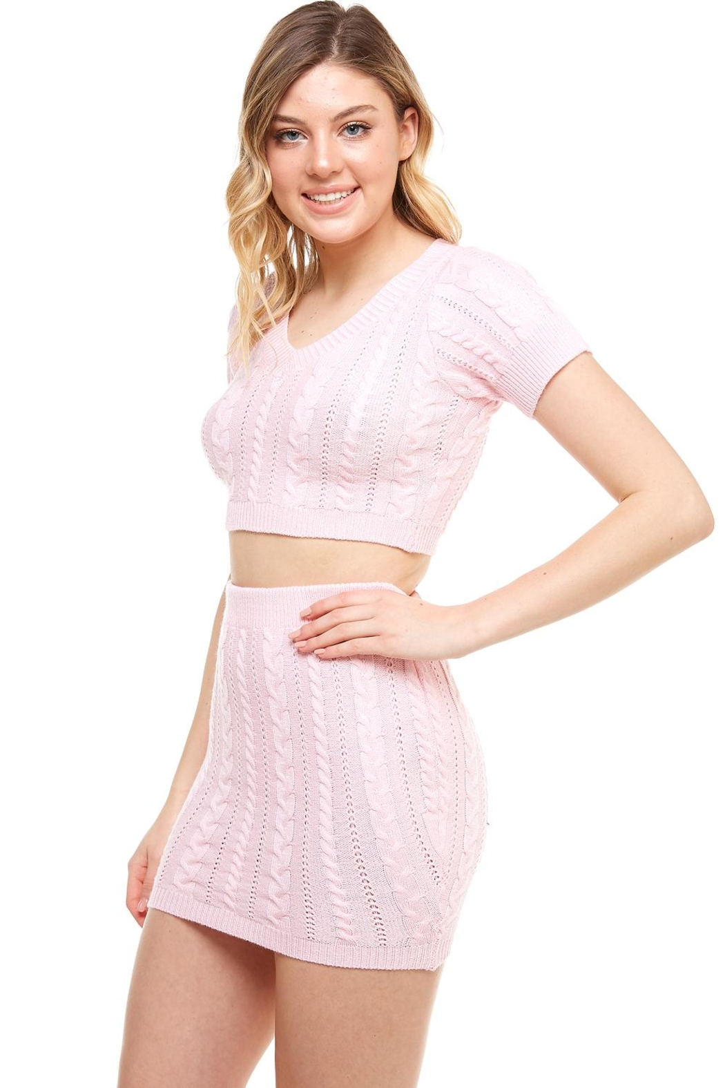 Hot & Delicious Sweater Skirt Set - Front Full Image