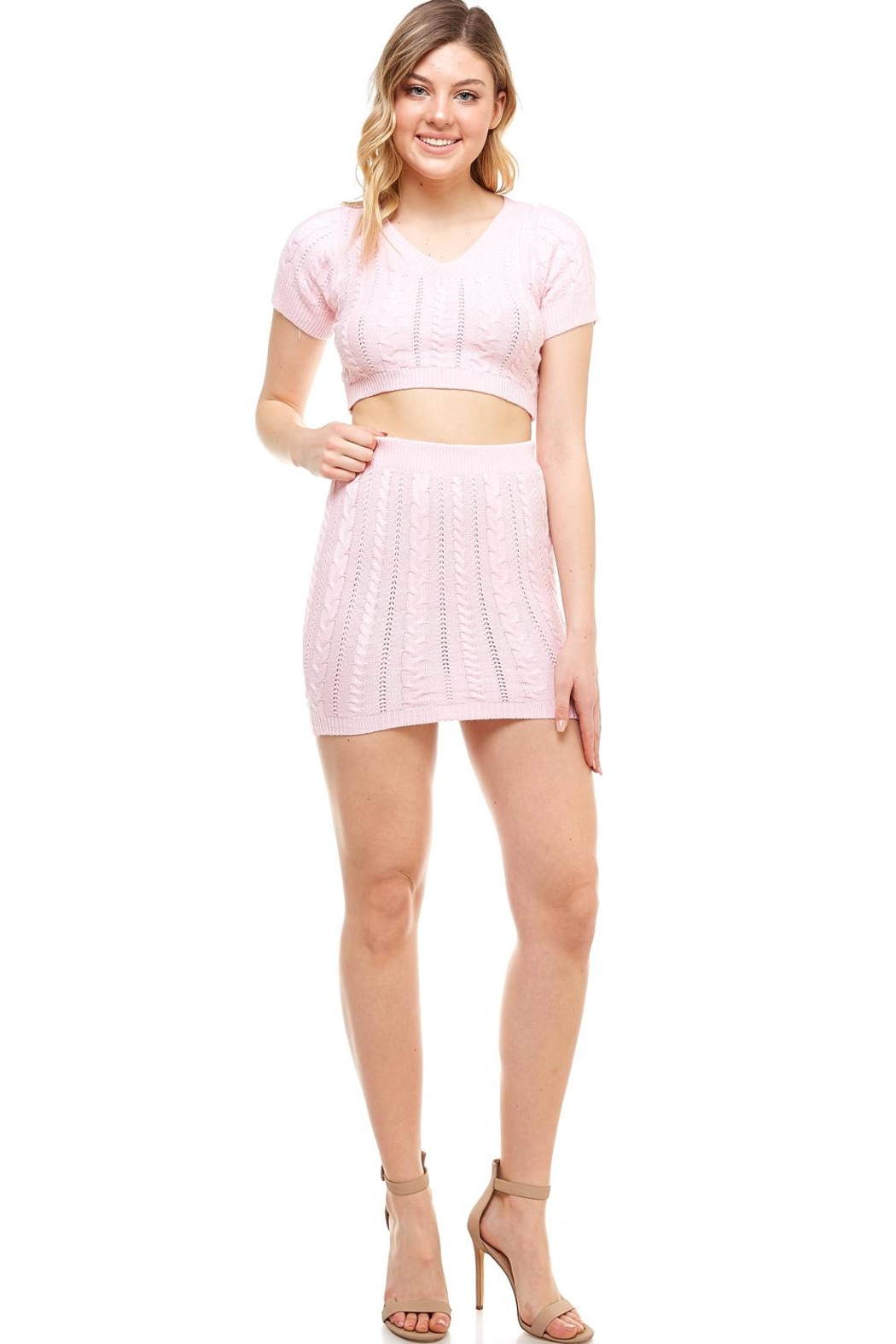 Hot & Delicious Sweater Skirt Set - Front Cropped Image