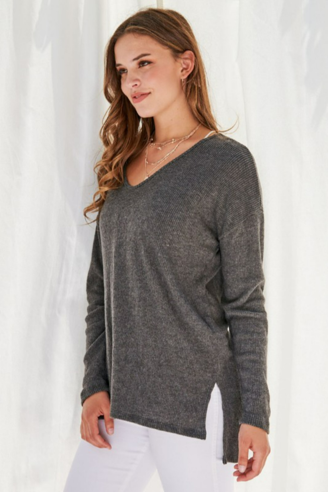 FSL Apparel Sweater Top - Front Cropped Image