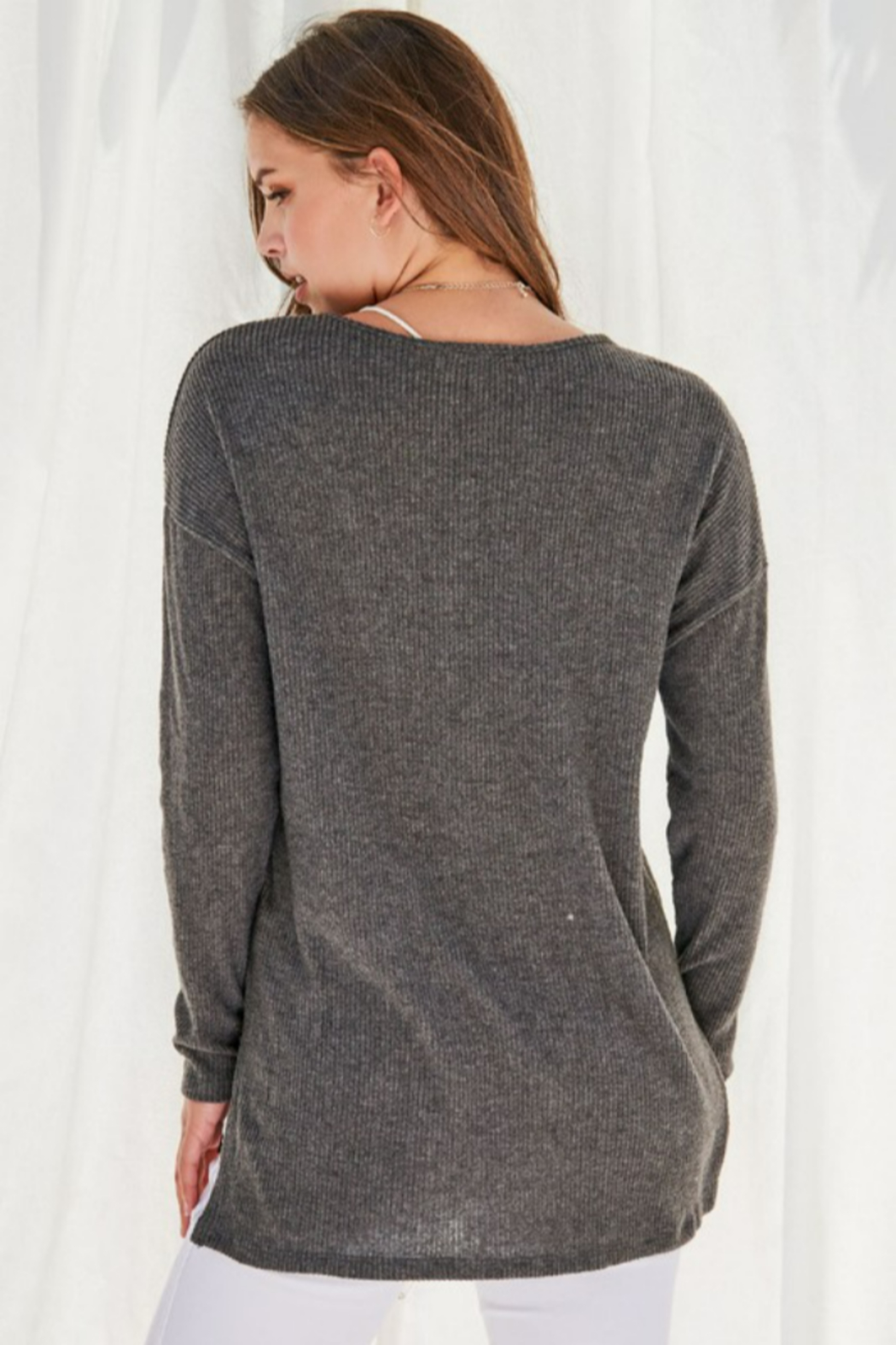 FSL Apparel Sweater Top - Side Cropped Image