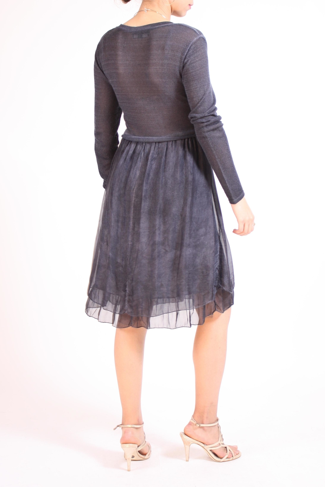 Talk of the Walk Sweater Top Dress - Side Cropped Image
