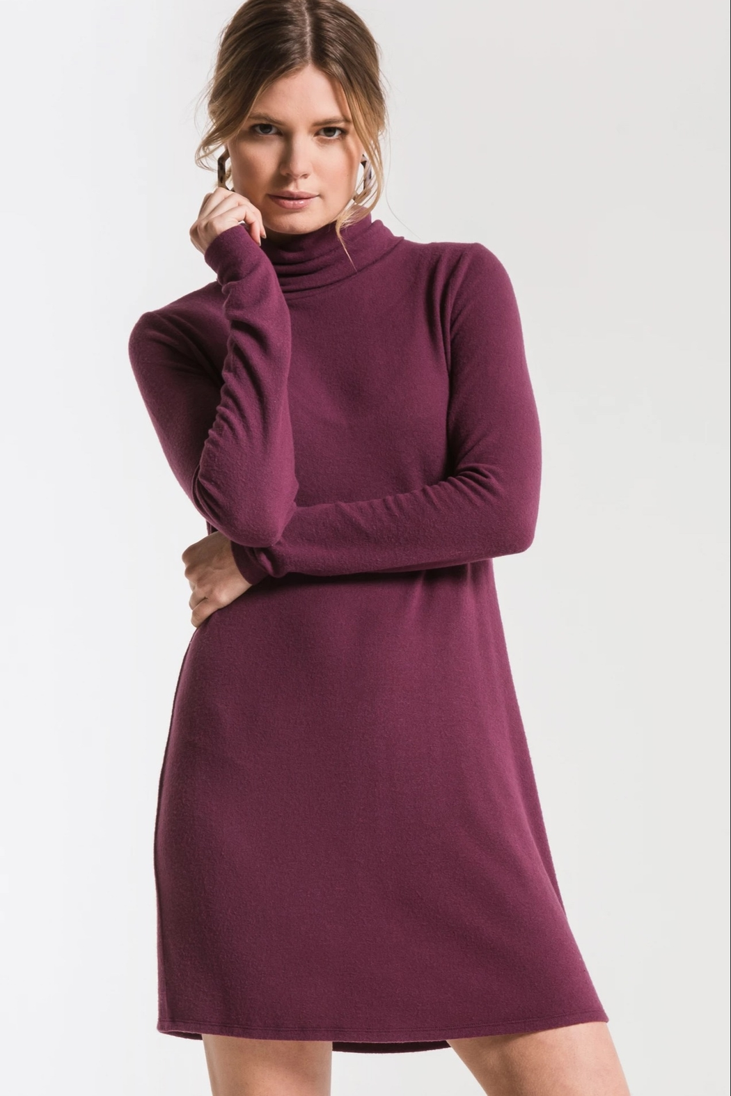 z supply Sweater Turtleneck Dress - Front Cropped Image