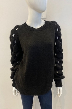 Shoptiques Product: Sweater with Braided Sleeves