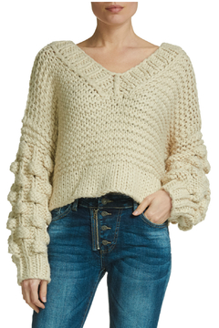 Elan sweater with bubble sleeve - Alternate List Image