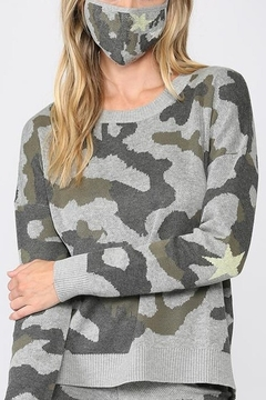 Fate Sweater with Camo Crew Neck and Mask - Alternate List Image