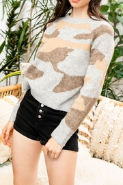 Thml Sweater with Camo Print - Product Mini Image