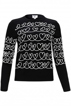 Shoptiques Product: Sweater with embroidered hearts