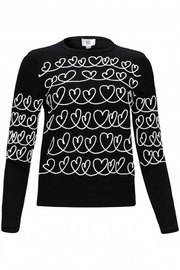 Yal NY Sweater with embroidered hearts - Product Mini Image
