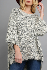 Umgee Sweater with high low hem line - Front cropped