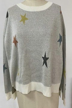 Fate Sweater with Multi Colored Stars - Alternate List Image