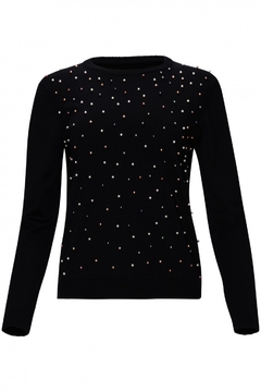 Shoptiques Product: Sweater with multicolor pearl front