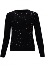 Yal NY Sweater with multicolor pearl front - Product Mini Image