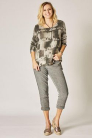 Look Mode Printed Sweater With Open Back - Product Mini Image