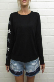 Fate Sweater with Stars on the elbos - Front cropped