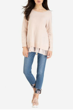 Shoptiques Product: Sweater with woven combo