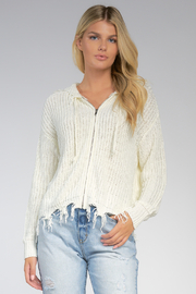 Elan  ZIPPER SWEATER - Product Mini Image