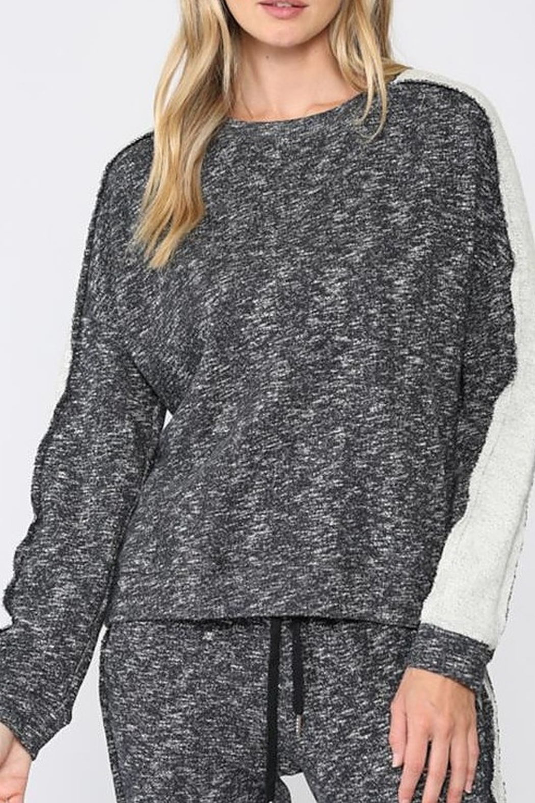 Fate  Sweatshirt with Side Panel French Terry - Main Image