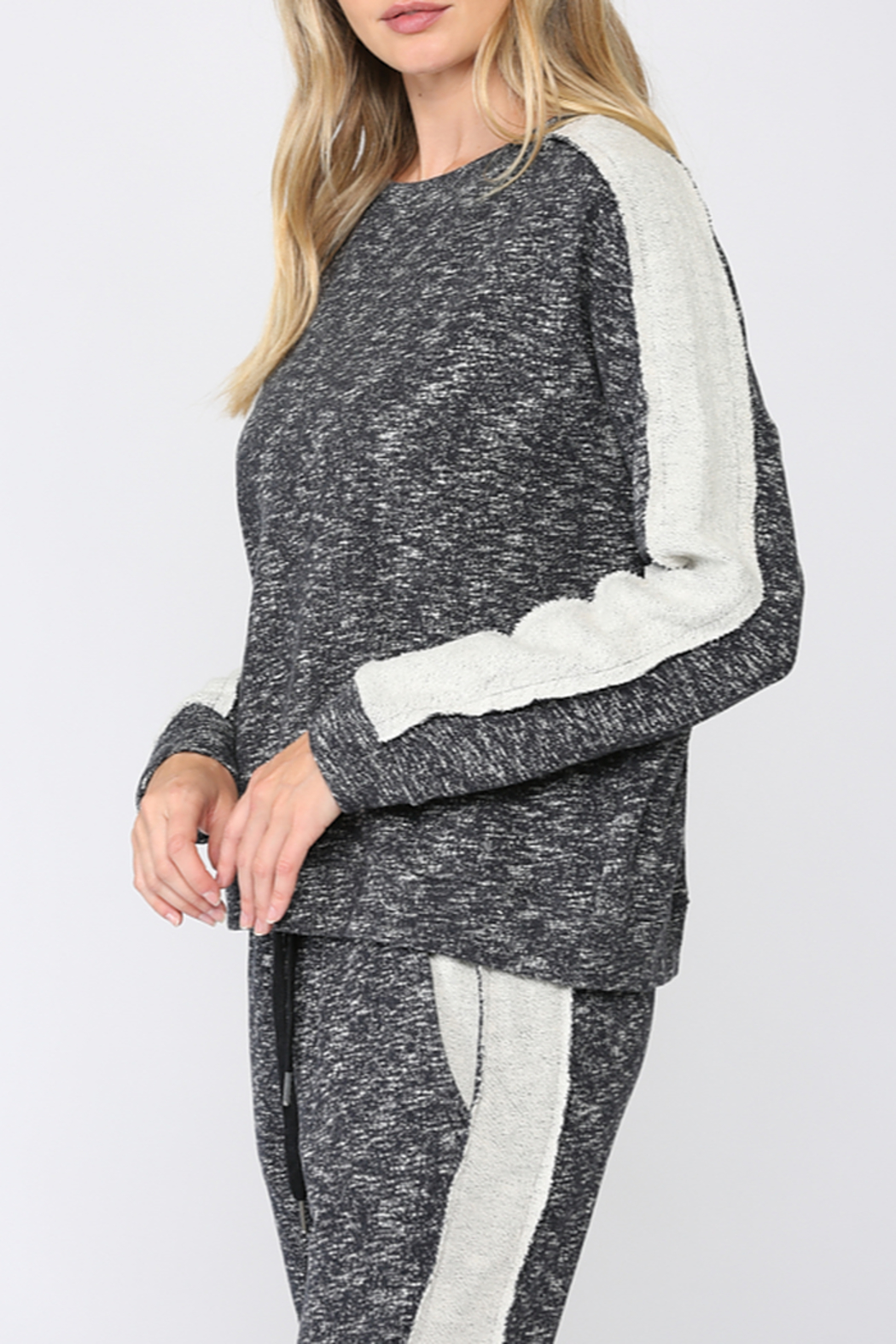 Fate  Sweatshirt with Side Panel French Terry - Front Full Image