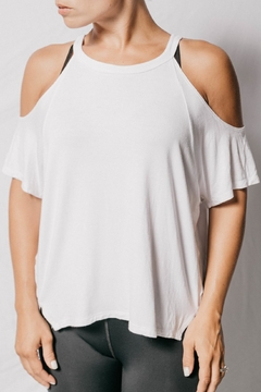 sweatyswag White Cold Shoulder Top - Product List Image