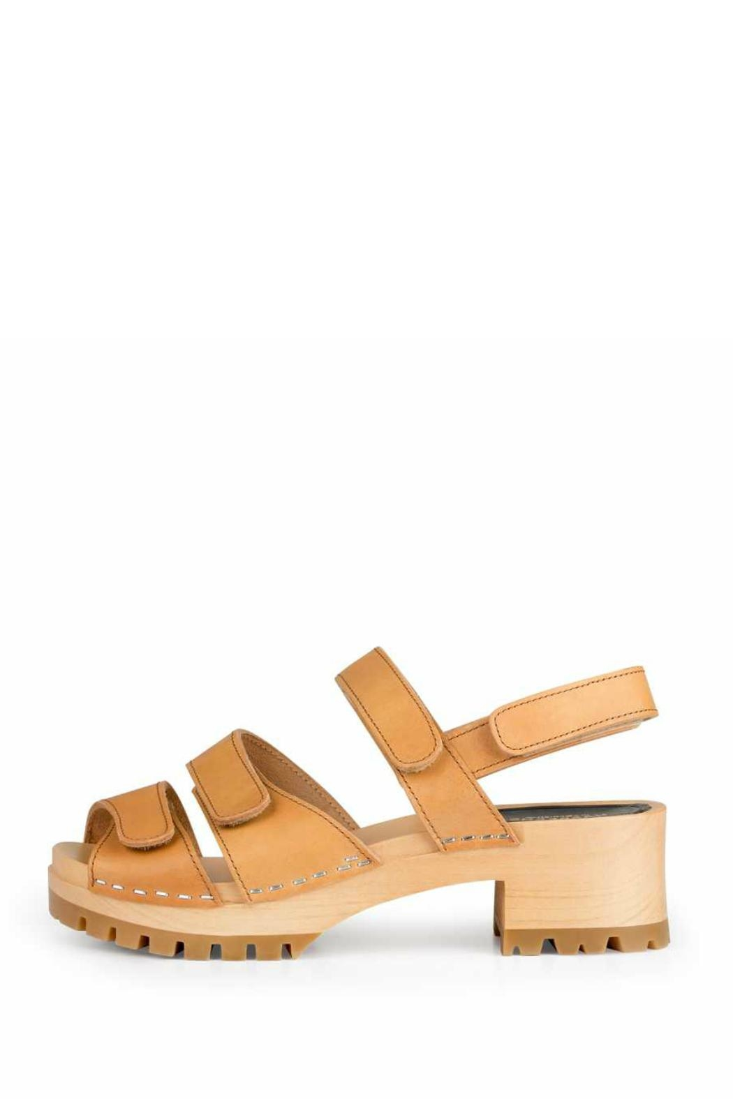 Swedish Hasbeens Velcro Strap Sandal - Front Cropped Image