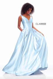 CLARISSE Sweet Blue Gown - Front cropped