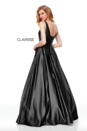 CLARISSE Sweet Blue Gown - Front full body