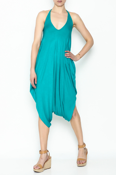 Sweet Candy Turquoise V Neck Jumpsuit - Product List Image