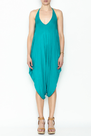 Sweet Candy Turquoise V Neck Jumpsuit - Front full body