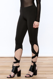Sweet Claire Ankle Tie Leggings - Product Mini Image