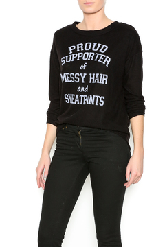 Sweet Claire Comfy Black Sweatshirt - Product List Image
