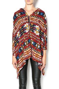 Sweet Claire Red Tribal Poncho - Product List Image
