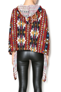 Sweet Claire Red Tribal Poncho - Alternate List Image