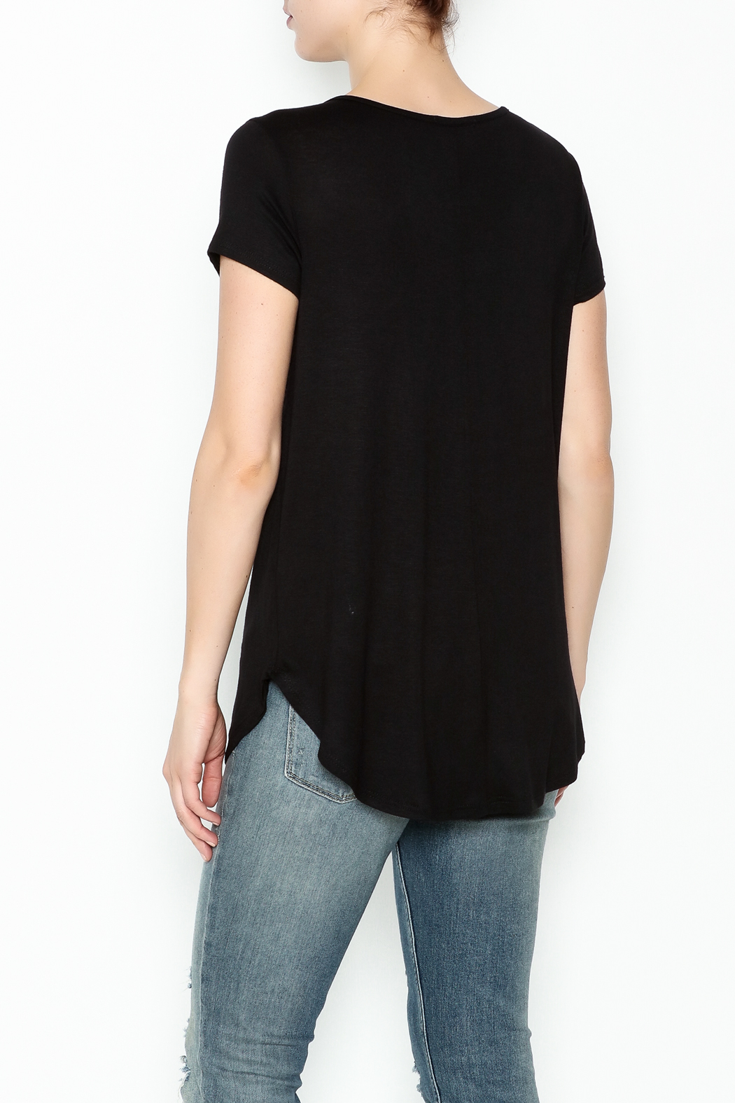 Sweet Claire Short Sleeve Tee - Back Cropped Image